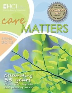 CareMatters Spring 2013 coverpg