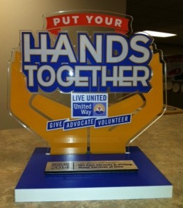 "United Way's 2014 ""Organization GIVE"" award"